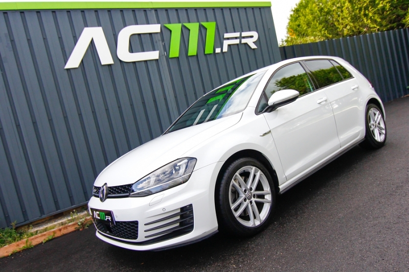 Photo 1 de l'offre de VOLKSWAGEN GOLF VII 2.0 TDI 184CH BLUEMOTION TECHNOLOGY FAP GTD DSG6 5P à 18990€ chez AC111 Automobiles