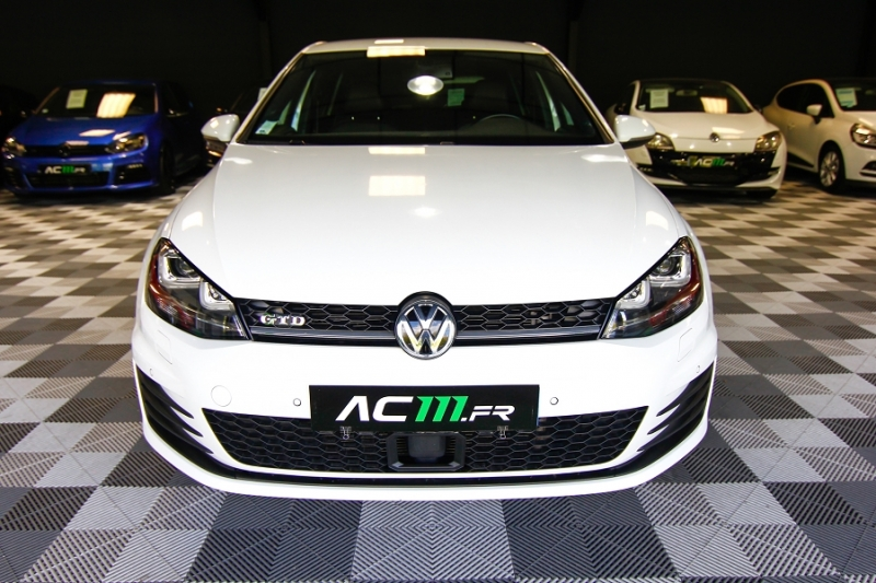 Photo 7 de l'offre de VOLKSWAGEN GOLF VII 2.0 TDI 184CH BLUEMOTION TECHNOLOGY FAP GTD DSG6 5P à 18990€ chez AC111 Automobiles