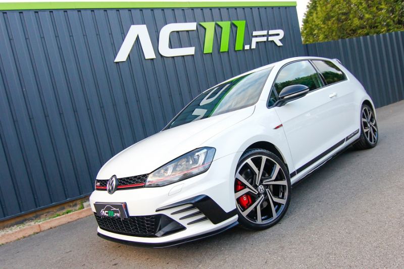 Volkswagen GOLF VII 2.0 TSI 265CH BLUEMOTION TECHNOLOGY GTI CLUBSPORT 3P Essence BLANC Occasion à vendre